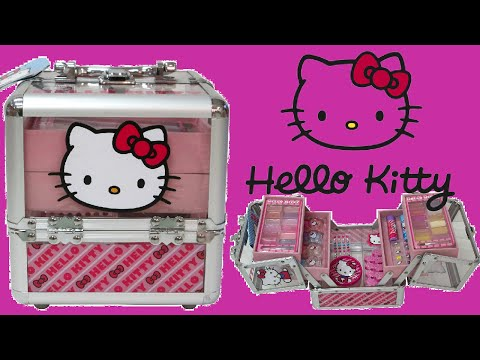 Hello Kitty Train Case Makeup Box for Kids Unboxing!!!