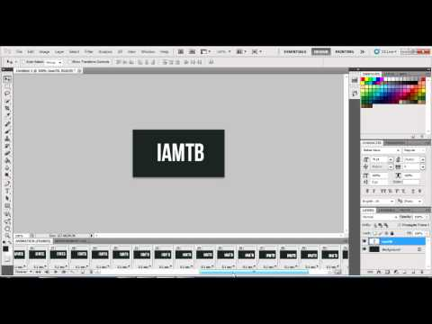 How to Make Moving Text in Photoshop [Tut]