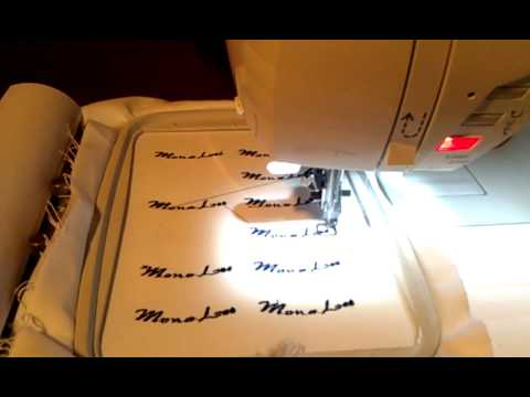 DONCORP CREATING CLOTHING TAGS ON SINGER MACHINE