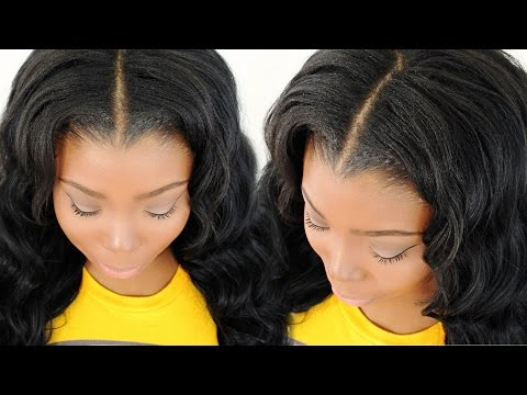 Blending & Straightening Your Leave Out With Your Sew In Weave Tutorial – (Part 4 of 7)