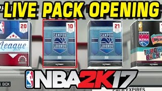 LIVE NBA 2K17 CAMPUS LEGENDS PACK OPENING!