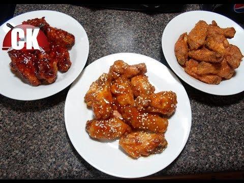 How to make Hot Wings - Hot Wings, BBQ wings, and Orange wings - SUPERBOWL SNACKS!