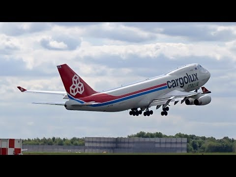 Cargolux Italia – Boeing 747-400F [LX-YCV] Departing London Stansted Airport