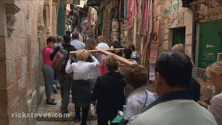 Jerusalem, Israel: Via Dolorosa and Church of the Holy Sepulchre