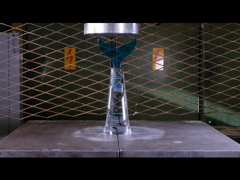 Crushing Shorty Award with Hydraulic Press