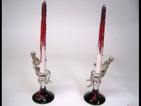 Skeleton Candles with Dripping Blood ~ Featuring Miriam Joy