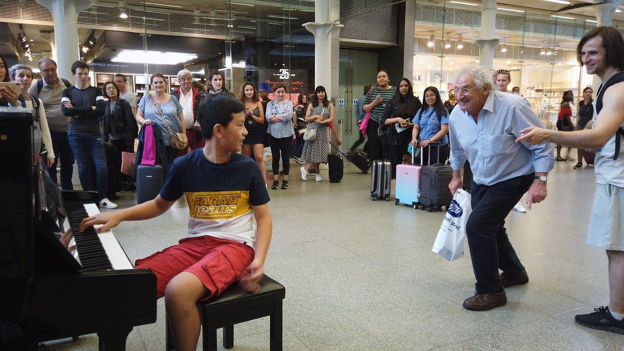 Bohemian Rhapsody Interrupted by Bernie Lookalike? Shocked Crowd! Cole Lam 12 Years Old