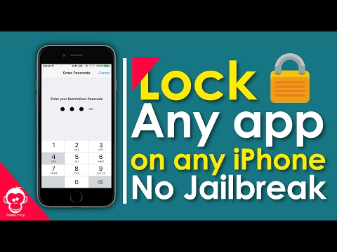 Lock Apps with Passcode on any iPhone (NO JAILBREAK) 2017