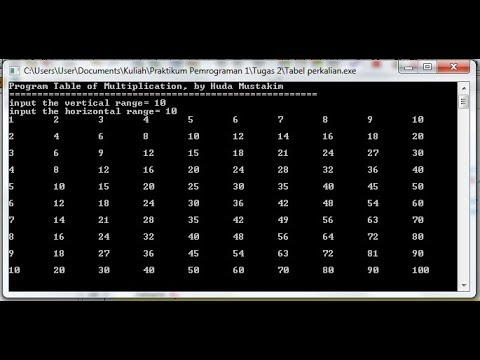 C++ Programming - How to create a Multiplication table