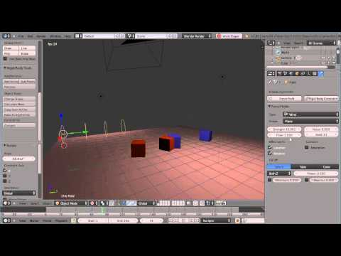Blender 2.66 Tutorial - Rigid Body Dynamics - Collision Groups and Layers