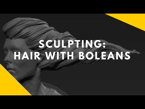 Sculpting: Sculpting hair with booleans