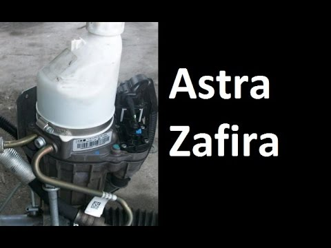 How to remove, replace the steering pump - Opel Vauxhall Astra, Zafira