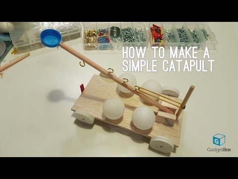 Make your own simple wood catapult