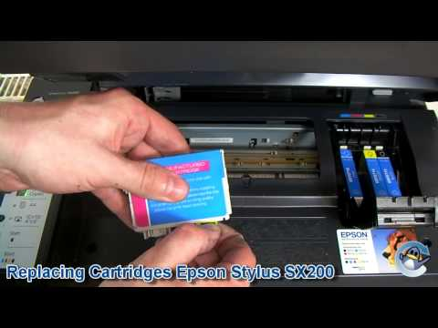 How to Change Ink Cartridges with a Epson Stylus SX200