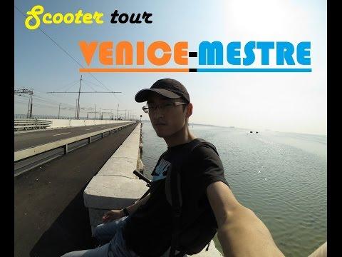 Scooter tour Venice Mestre [HD]Ponte della Libertà