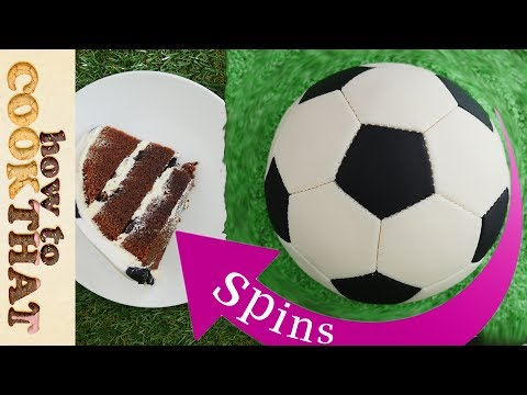 Spinning Football CAKE (soccer) How To Cook That ANN REARDON