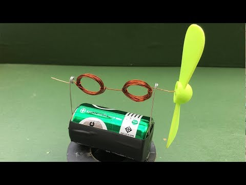 Very Simple DIY Motor (Dynamo) Science Project 2018 - How to Build a Toy Electric DC Motor