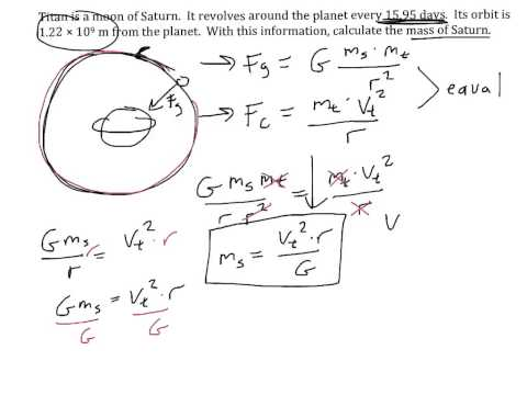 Circular motion #7: Calculating mass of planet