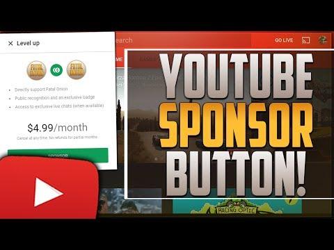 How To Get The YouTube Sponsor Button! ◀️YouTube Gaming Sponsorship▶️ Green Sponsor Icon!