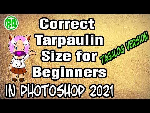 Photoshop Tagalog Tutorial ( Correct Tarpaulin Size )