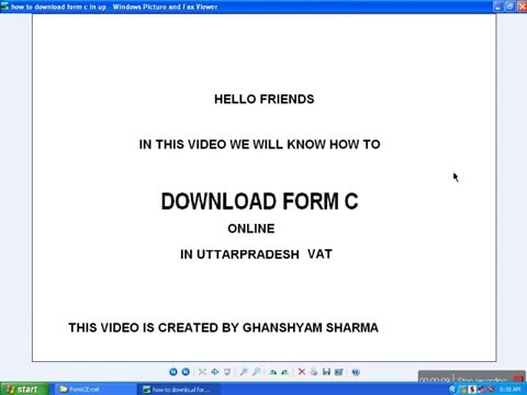 HOW TO DOWNLOAD FORM C ONLINE IN UPVAT ONLINE