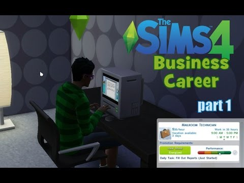 The Sims 4: Business Career part 1 - Eat, Pray, Fill out reports