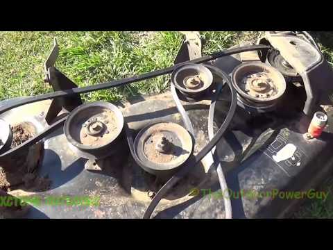How To Replace The Deck Belt On A 48in Husqvarna Riding Mower Years 2006 and up