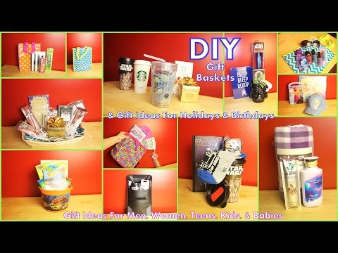 DIY Gift Baskets & Gift Ideas - How To Assemble - For Men Women Kids Teens & Babies #diyczokamas
