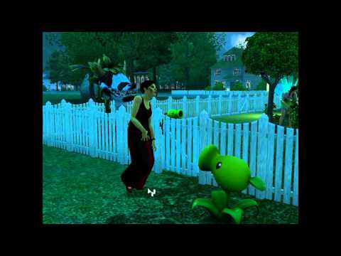 Sims 3 Supernatural: Plant Attacks A Zombie