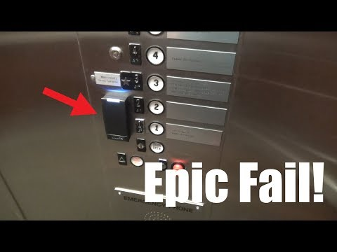 EPIC FAIL on a Westinghouse Elevator