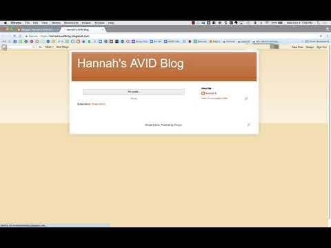 Create an AVID Blog Using Blogger