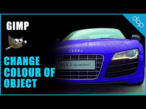 Gimp 2.8 Tutorial - Change colour of an object