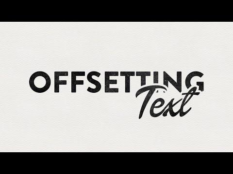 Illustrator CC CS6 Tutorial - Offsetting Text