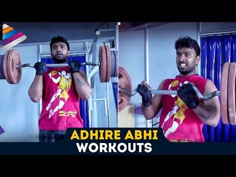 Jabardasth Comedian Adhire Abhi Workouts for Six Pack   Exclusive Video   Telugu Filmnagar