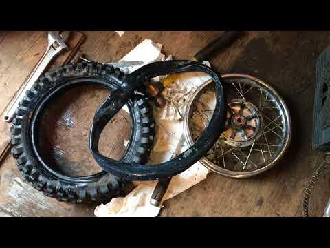 Kawasaki KLX 110 Dirt Bike Rear Knobby and Tube Replacement