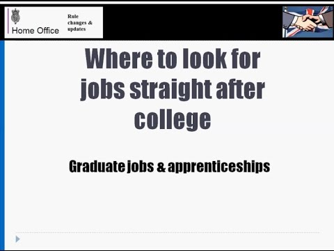 Where to look for jobs right after College / University