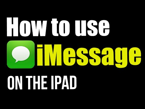How to use iMessage on the iPad iOS 8