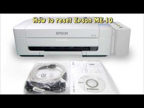 Reset Epson ME 10 Waste Ink Pad Counter