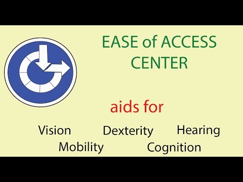Ease of Access Microsoft System 7 tools for persons with vision loss