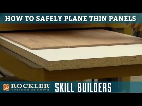 How to Safely Plane Thin Panels | Rockler Skill Builders