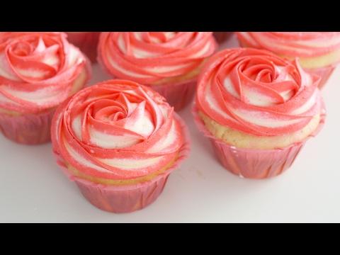 Rose Cupcakes (Rose Flavour + Decoration) | RECIPE