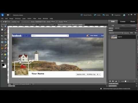 Photoshop Elements: Make a Facebook Timeline Cover