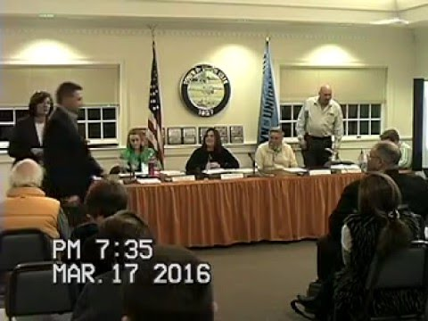 March 17th Town Board Meeting