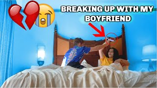 Breaking Up With My Boyfriend On Valentines Day **HE GOT SAD**