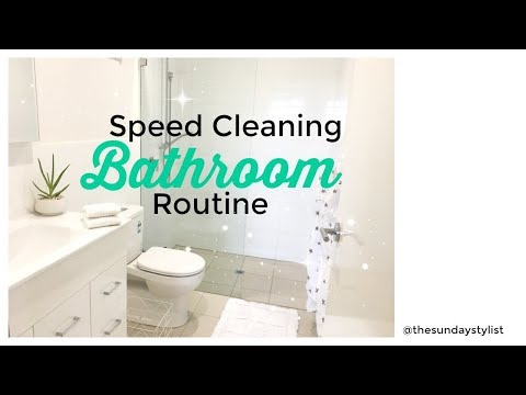 SPEED CLEAN WITH ME || SUPER FAST BATHROOM CLEANING ROUTINE || THE SUNDAY STYLIST