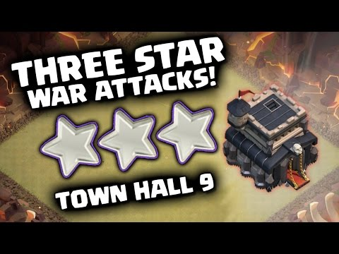 Clash of Clans - TownHall 9 Best War Attack Strategy