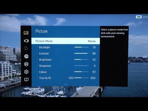 Samsung UE55JU7500 4K TV Calibrated Picture Settings