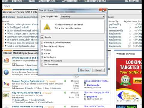 How to Delete browsing history in IE, Firefox, Safari, Chrome