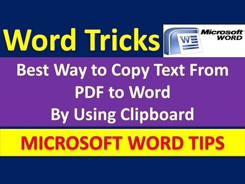 Best Way to Copy Text From PDF to Word By Using Clipboard [Urdu / Hindi]