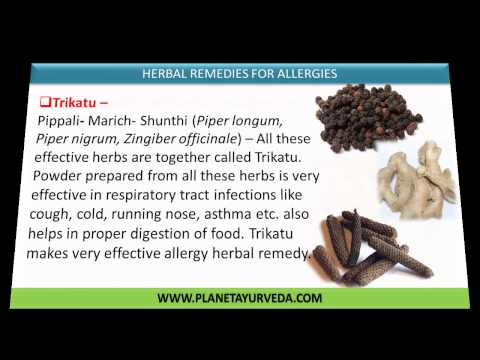 Allergy Herbal cure | Natural Allergy Remedies That Work